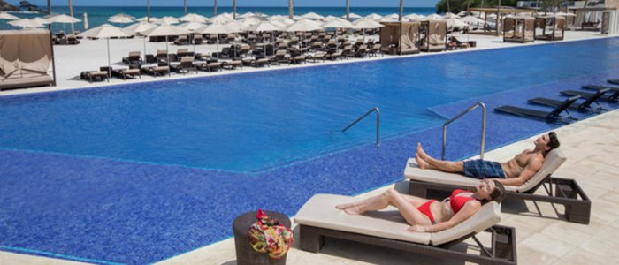 Luxury all inclusive resort includes poolside service