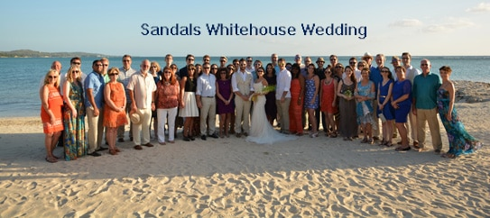 Sandals Whitehouse wedding
