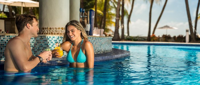Isla Mujeres Palace includes swim up bar