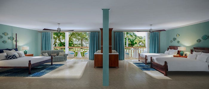Tropical Beachfront Concierge Family Rooms - BCC