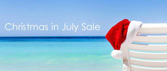 Christmas in July Sale going on now - Book today and save $$