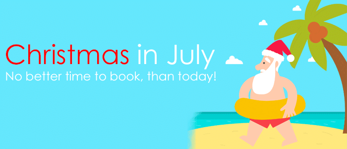 Take advantage of these amazing travel rates!! Christmas in July SALE