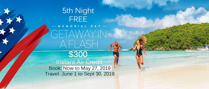 Couples Resorts - Memorial Day Flash Sale  - Let's Book your trip today!!