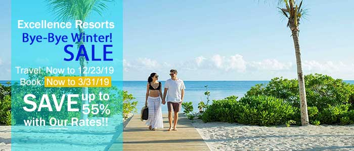 Excellence Sale, Book Now - save up to 55%