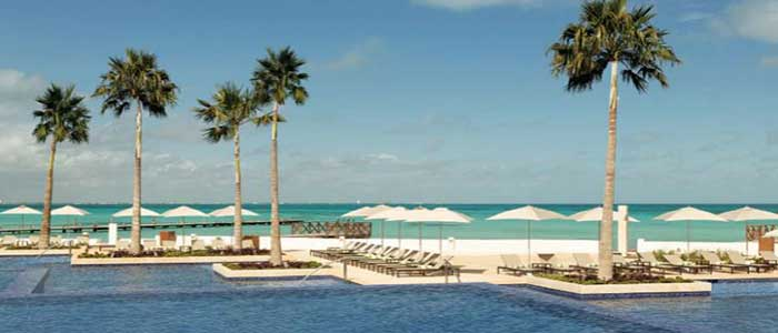 Poolside service available at Hyatt Ziva Cancun