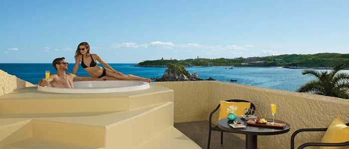 Balcony view from Preferred Club Jr Suite at Dreams Huatulco