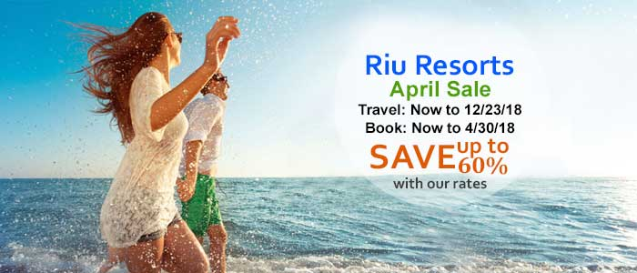 Riu SALE - Save up to 60% with our rates!!