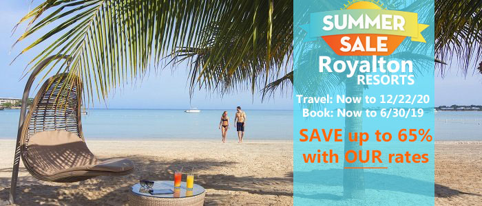Royalton Resorts Summer SALE - Book today and SAVE BIG!!