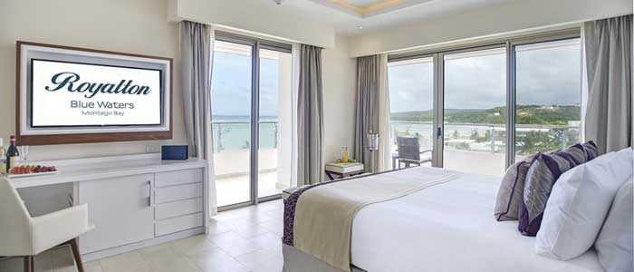 Presidential One Bedroom Suites with ocean views.