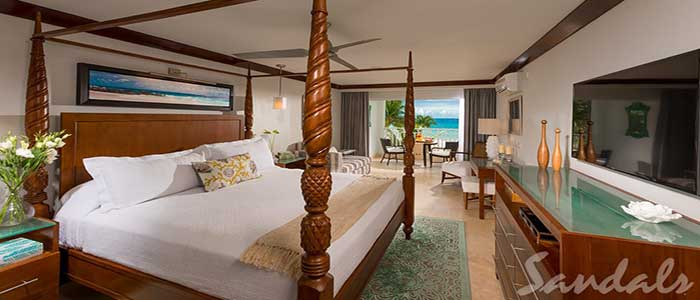 Beachfront Honeymoon Club Level Suite - HJS