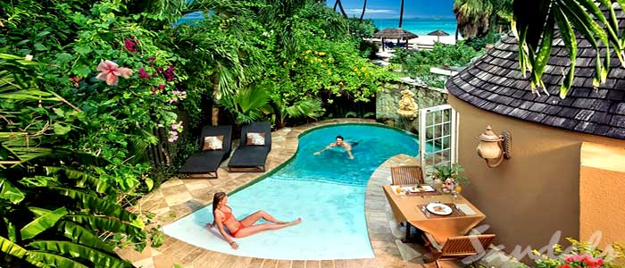 Caribbean Honeymoon Butler Rondoval with Private Pool Sanctuary - RP