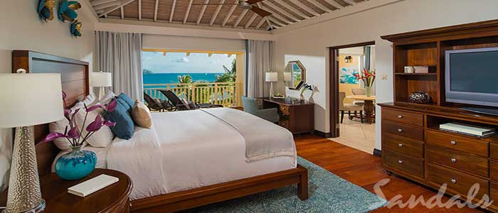 Caribbean Beachfront One Bedroom Butler Suite w/ Tranquility Soaking Tub - 1B