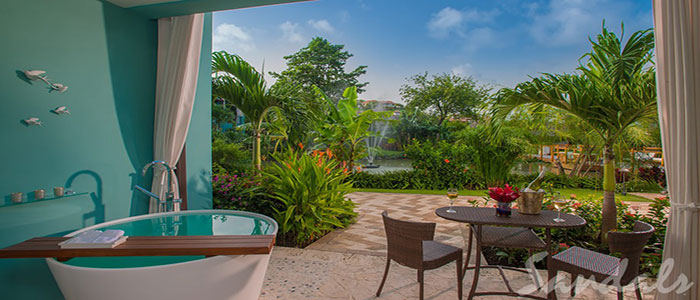 Lover's Lagoon Hideaway Walkout Junior Suite with Patio Tranquility Soaking Tub - LWJS