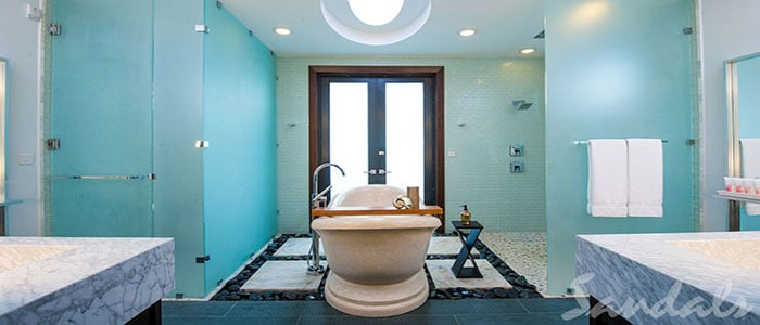 This could be your luxurious bathroom for the week!!
