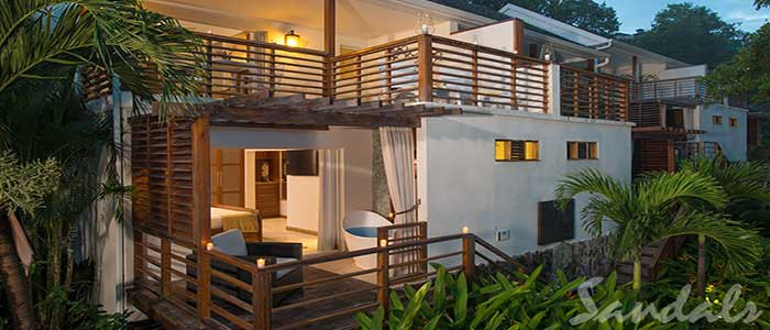 Oceanfront Two-Story One Bedroom Butler Villa Suite with Balcony Tranquility Soaking Tub - BW
