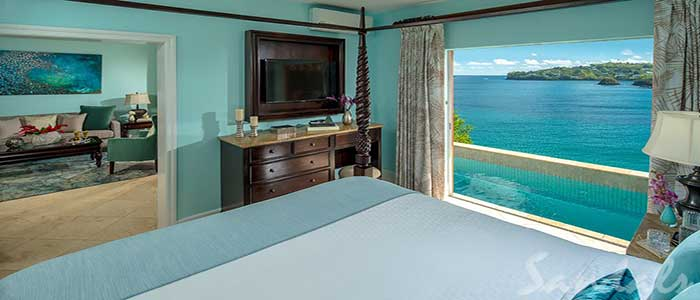 Sunset Bluff Honeymoon Oceanfront One Bedroom Butler Villa Suite with Private Pool - BS