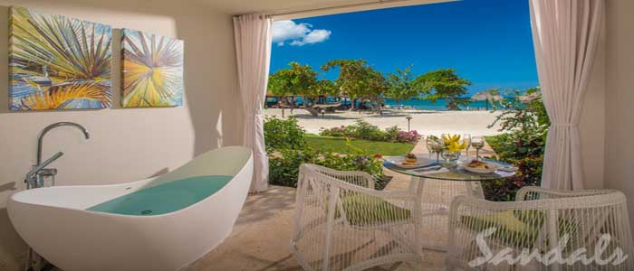 PHOTOS ROOM VIEW LOCATION Beachfront Honeymoon Walkout One-Bedroom Butler Suite w/Tranquility Soaking Tub - OWT