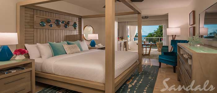 Crystal Lagoon Honeymoon Oceanview One-Bedroom Butler Suite w/ Balcony Tranquility Soaking Tub - OL1B