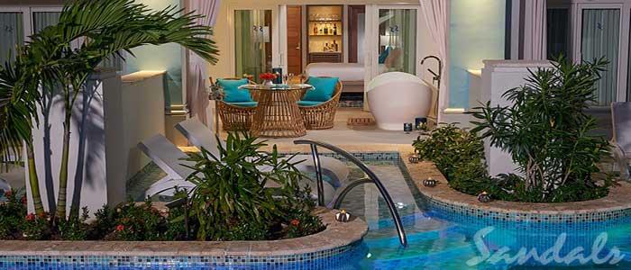 Crystal Lagoon Swim-up Club Level Luxury Room w/ Patio Tranquility Soaking Tub - SLX