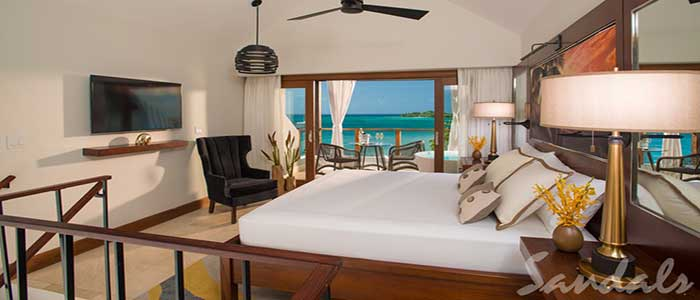 Honeymoon Beachfront Two Story One Bedroom Butler Villa Suite w/Tranquility Soaking Tub - 1B