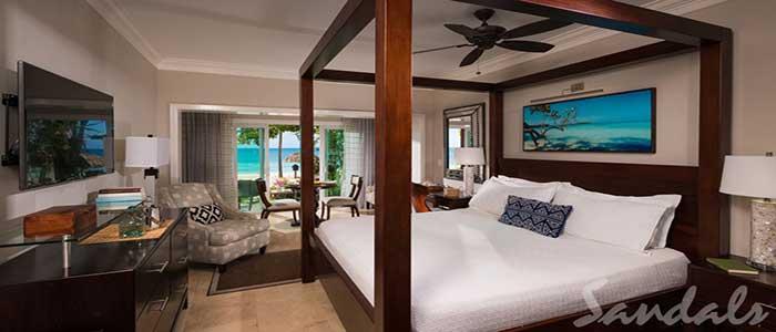 Paradise Honeymoon Beachfront Walkout Club Level Room - WB