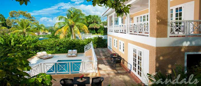 Butler Villa with 4 One-Bedroom Suites and Private Pool - 4V1