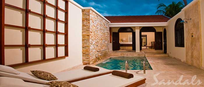Butler Village Honeymoon Romeo & Juliet One Bedroom Villa Suite with Private Pool Sanctuary - RJ