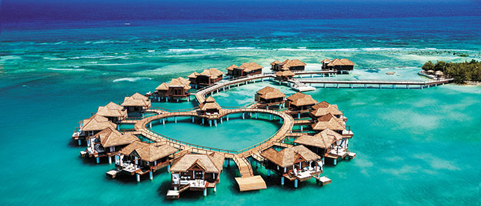 Over the Water Bungalows at Sandals Resorts