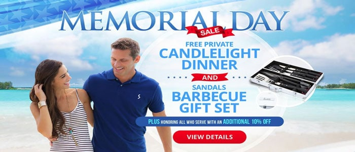 Sandals Resorts MEMORIAL DAY SALE - Book today 'til 5/28/19