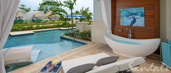 Royal Seaside Crystal Lagoon Swim-up One Bedroom Butler Suite w/ Patio Tranquility Soaking Tub - 1SUP