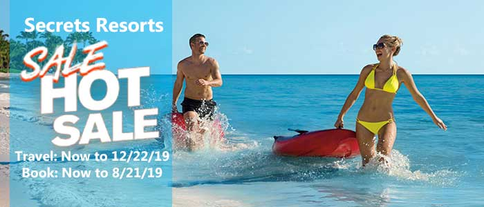 Secrets Resorts Summer HOT Sale - book by 8/21