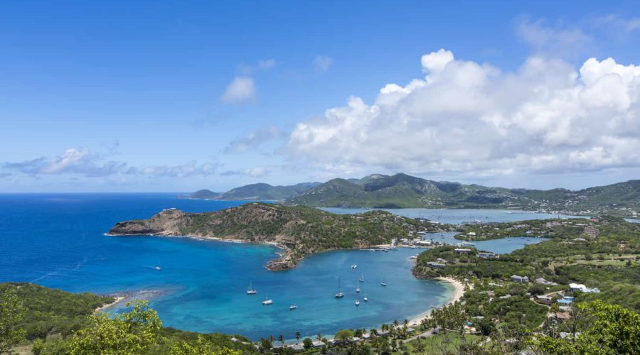 Antigua Honeymoon View from Shirley Heights